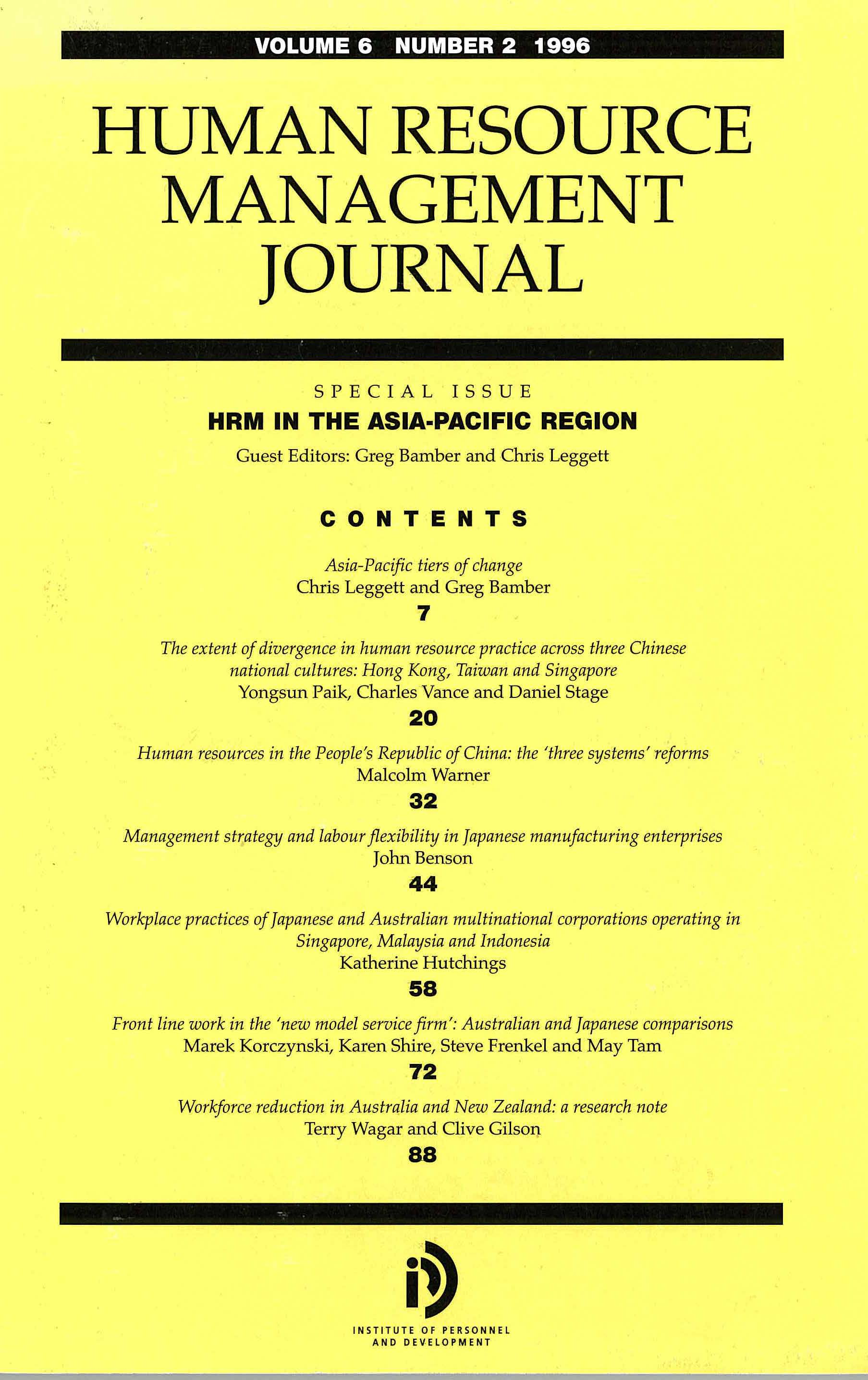 international human resource management of japanese International human resource management an agenda for the 1990s, international journal of human resource management in how companies in japan.