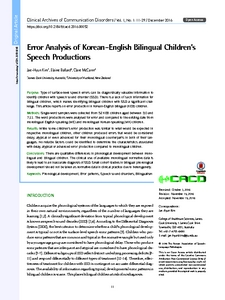 error analysis of english Full-text (pdf) | this study examines errors in a corpus of 72 essays written by 72 participants the participants are form four malay students who are studying at a.